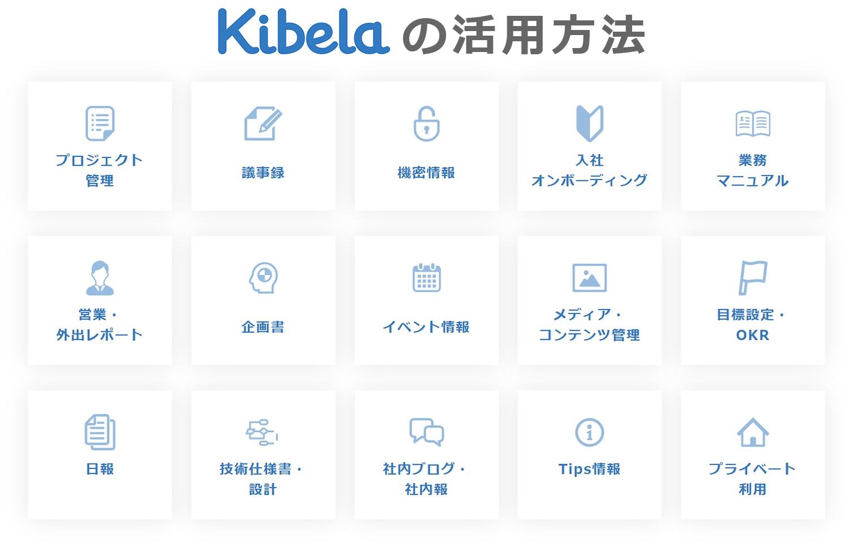 Kibelaの活用方法